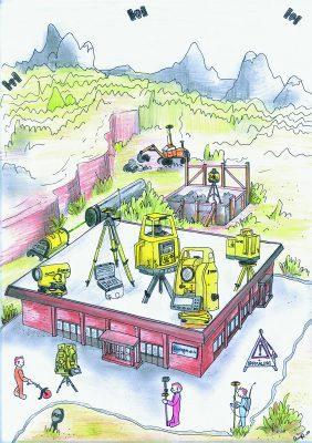 Tegning av Blinken bygget